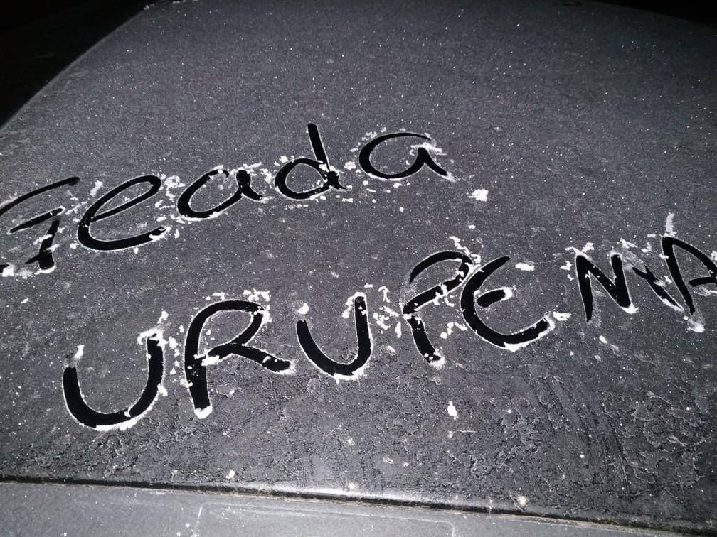 Urupema registrou mínima de -9°C — Foto: Marília Oliveira/Divulgação