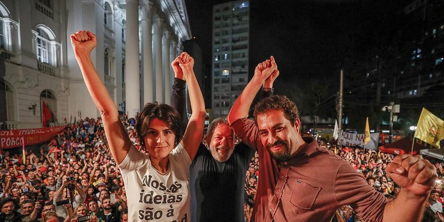 Manuela D'Ávila, Lula e Guilherme Boulos serão lideranças afetadas pela nova configuração do quadro partidário, no qual esquerda terá de ser refundada (Foto: RICARDO STUCKERT/AGENCIA PT)