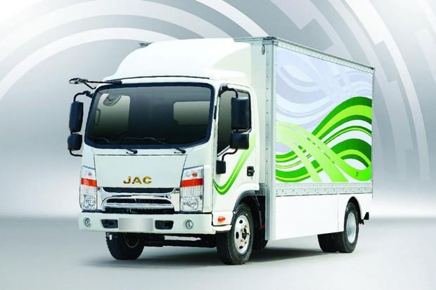 O caminhão elétrico da JAC já pode ser encomendado (Foto: Divulgação)