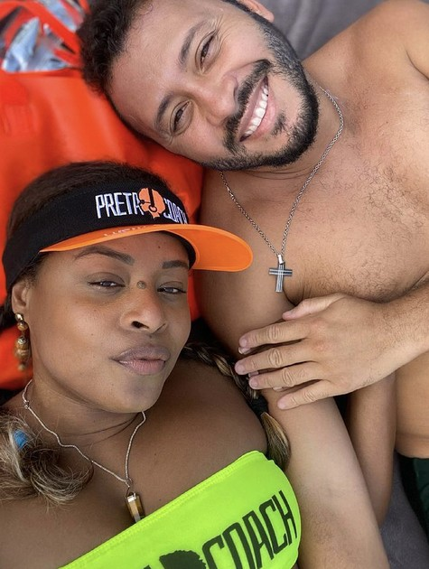 Roberta Rodrigues e o marido, Guilherme  (Foto: Reprodução)