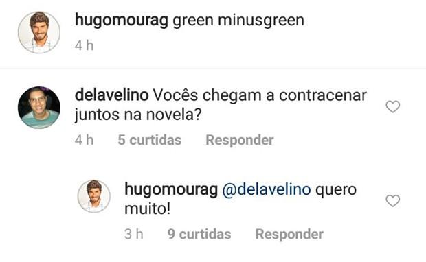 Hugo Moura dizendo que quer muito contracenar com Deborah Secco em Segundo Sol (Foto: Reprodução/Instagram)