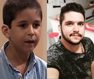 Leo Lemos em 'Por amor' e atualmente | TV Globo - Reprodução/Instagram
