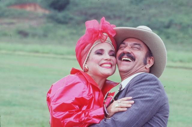 Regina e LIma Duarte em cena de Roque Santeiro (Foto: TV Globo)