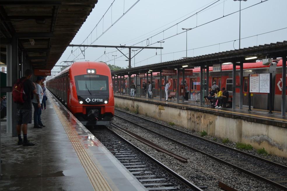 Estação da CPTM de Mogi das Cruzes — Foto: Maiara Barbosa / G1