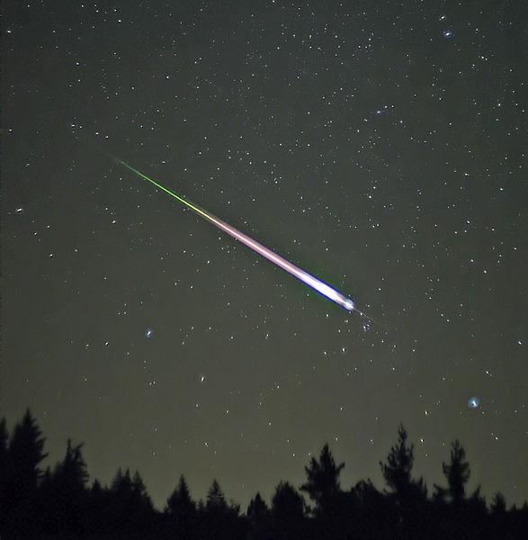 Meteoro Leonid, fotografado em 2009 (Foto: Navicore/Wikimedia Commons)