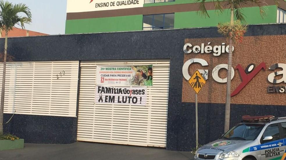 Tragédia ocorreu no Colégio Goyases (Foto: Sílvio Túlio/ G1)