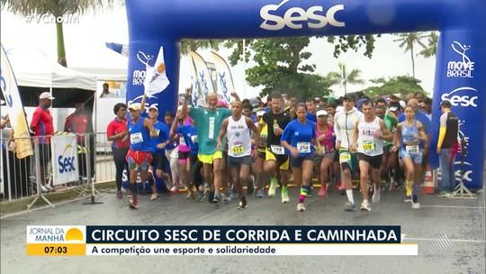 Circuito Sesc de Corrida e Caminhada reúne centenas de participantes em Porto Seguro