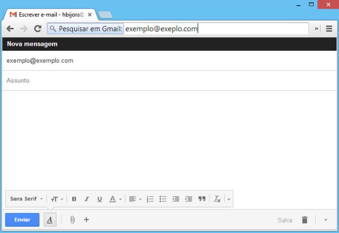 Criando novo e-mail através do Chrome (Foto: Reprodução/Helito Bijora)