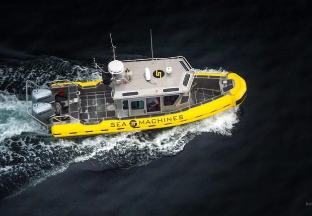 Veículo da Sea Machines, empresa de desenvolvimento de barcos autônomos (Foto: Divulgação/Sea Machines)