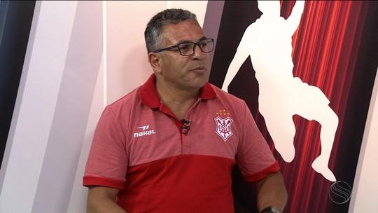 Novato em SE, Luizinho Vieira diz que grande meta é o acesso e não descarta novos atletas