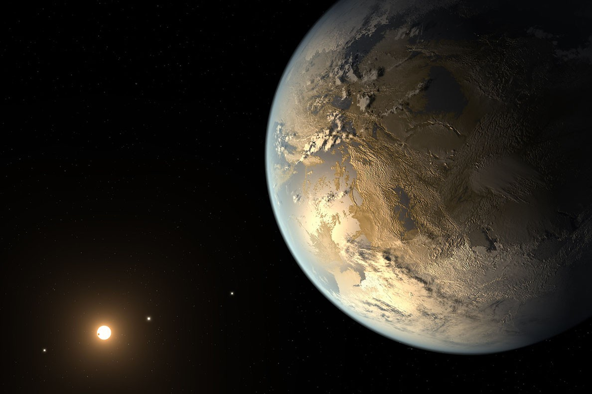Planetas mais habitáveis do que a Terra podem existir. Acima: representação artística de um planeta habitável (Foto: NASA Ames/SETI Institute/JPL-Caltech)