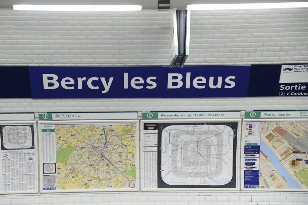 Estação Bercy  (Foto: Bertrand Guay / AFP)