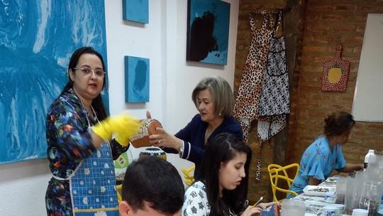 Flávio Meireles faz arte com mosaico no desafio do 'Programão'