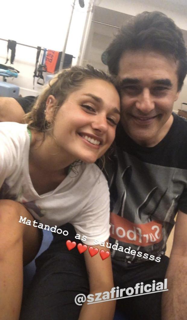 Sasha Meneghel e Luciano Szafir (Foto: Reprodução/Instagram)
