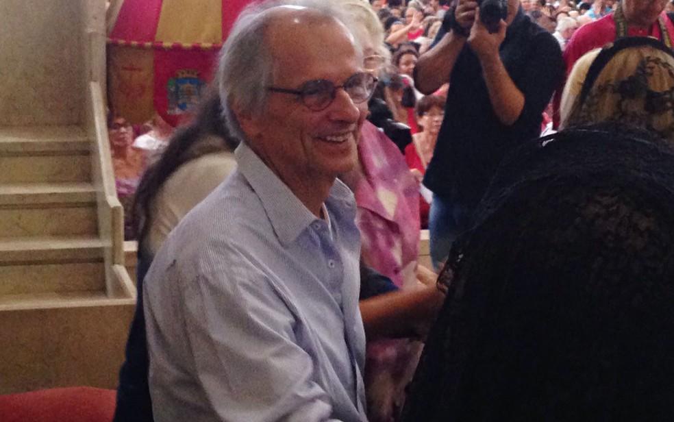 Vice-prefeito do Rio, Fernando Mac Dowell, participou da missa na Basílica de São Sebastião (Foto: Bruno Albernaz)
