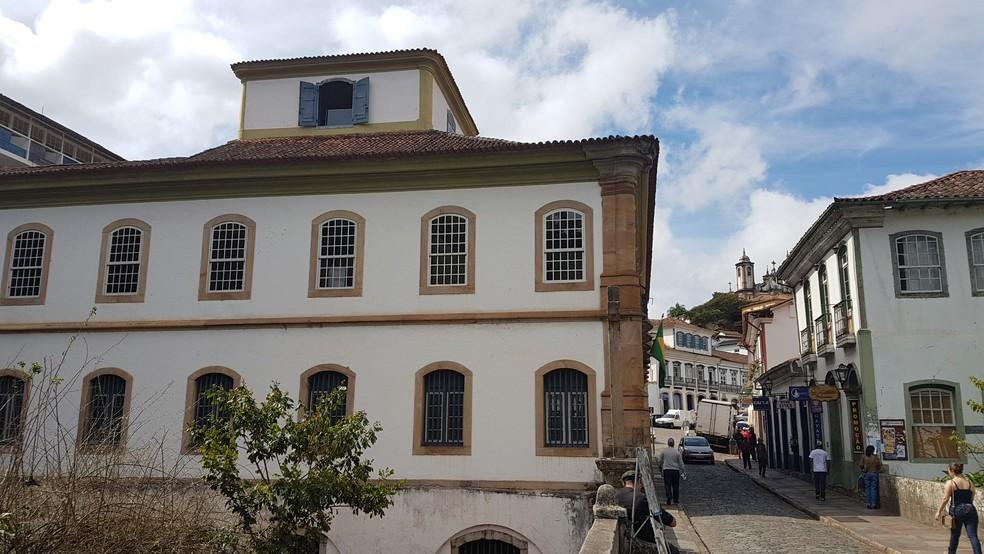 Casa dos Contos em Ouro Preto, na Região Central de Minas Gerais. (Foto: Thais Pimentel/G1)