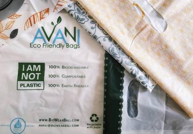 sacola biodegradável (Foto: Divulgação)
