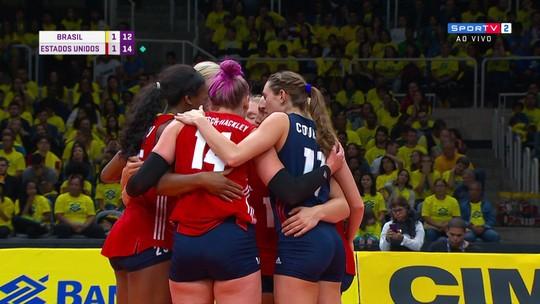Melhores momentos: Brasil 1 x 3 Estados Unidos em amistoso internacional de vôlei feminino