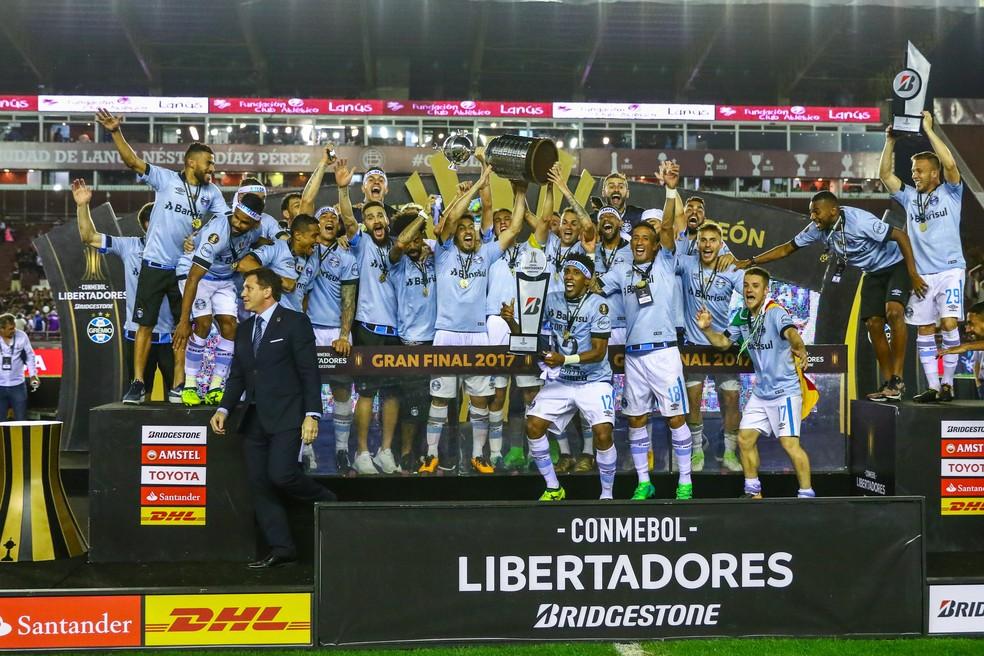 Atual campeão, Grêmio é o melhor brasileiro do ranking e dono de mais da metade dos pontos de sua chave (Foto: Lucas Uebel / Grêmio F.B.P.A.)