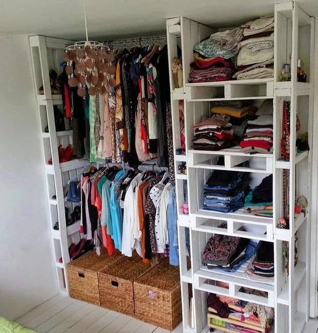 Closet de paletes (Foto: Reprodução/Pinterest)