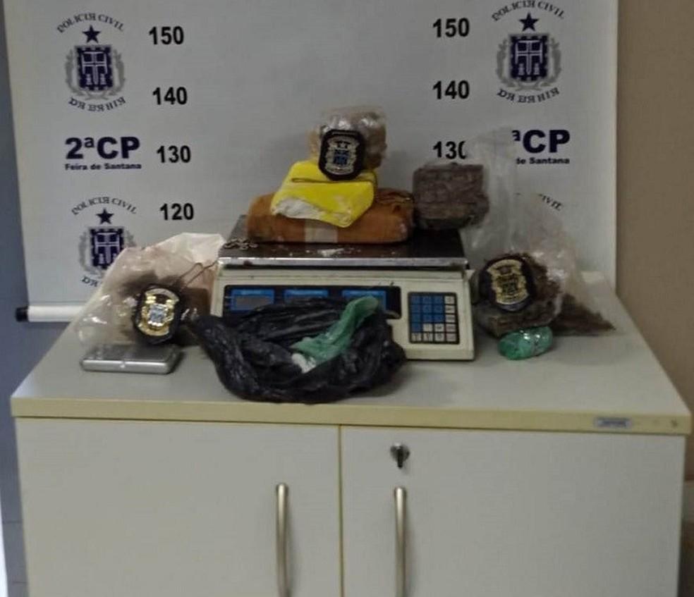 Depósito de drogas é localizado em Feira de Santana  — Foto: Divulgação / PC-Ba