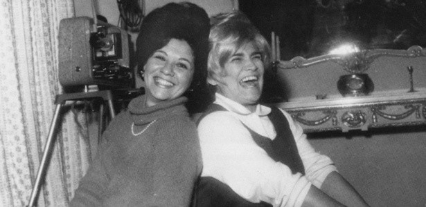Lolita Rodrigues e Hebe Camargo na década de 1960 (Foto: Reprodução)