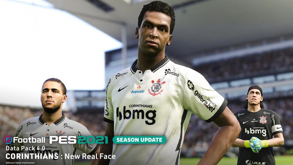 Jô de face nova no DLC 4.0 do eFootball PES 2021 — Foto: Divulgação / Konami
