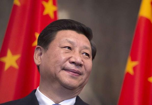 O presidente da China, Xi Jinping durante conferência do Partido Comunista em Pequim (Foto: Johannes Eisele/Getty Images)