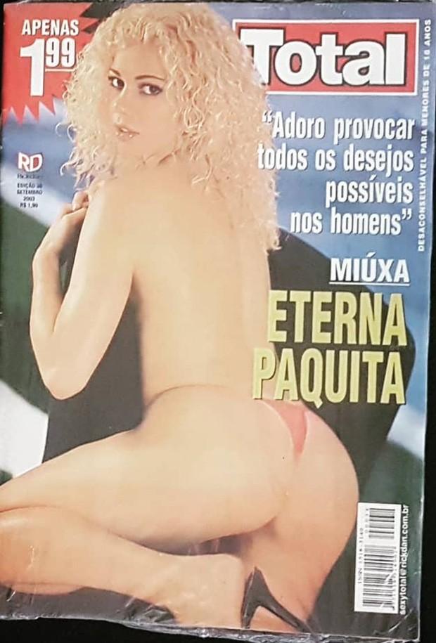 Cátia Paganote em capa de ensaio nu de 2003 (Foto: Reprodução/Instagram)