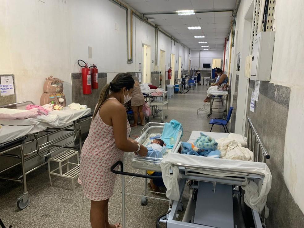 Superlotada, Maternidade Januário Cicco interrompe atendimentos em Natal — Foto: Anna Alyne Cunha/Inter TV Cabugi