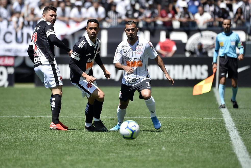 Em 2019, em São Paulo, Corinthians venceu por 1 a 0 — Foto: Marcos Ribollit