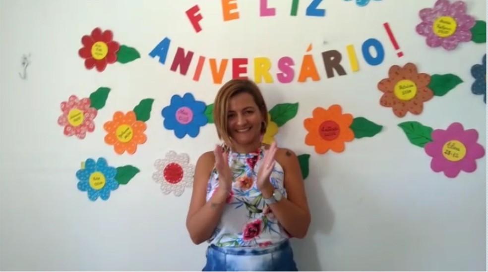 Dayse completou 40 anos e ganhou festa de aniversário surpresa na manhã do dia em que foi morta pelo marido em motel na PB — Foto: Reprodução/TV Paraíba