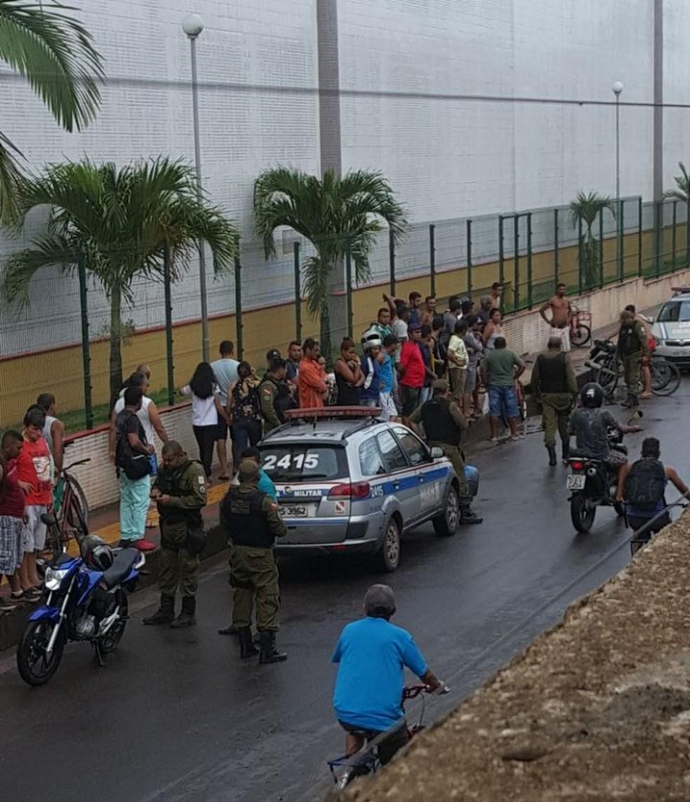 -  Dupla é baleada no Parque Verde, em Belém.  Foto: Reprodução / TV Liberal