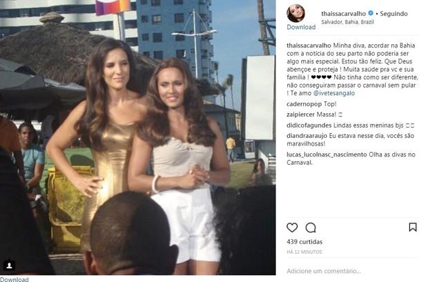 Thaissa Carvalho (Foto: Reprodução/Instagram)