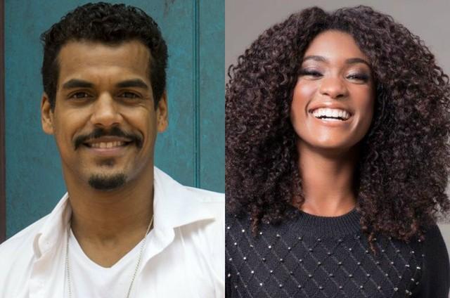 Marcello Melo Jr. e Erika Januza (Foto: TV Globo e Faya)