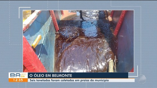 Quase 700 Kg de óleo são coletados em praias de Belmonte e Santa Cruz Cabrália na terça