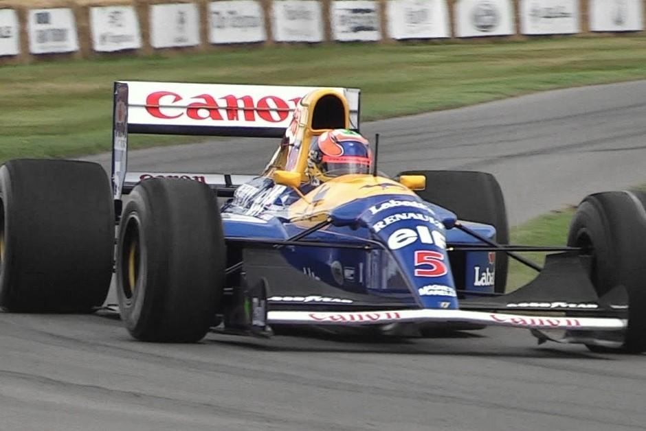 Williams FW14, utilizada nas temporadas de 1991 e 1992 (Foto: Reprodução/YouTube )