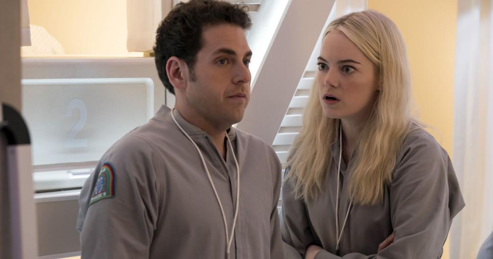 Emma Stone e Jonah Hil na série 'Maniac' — Foto: Divulgação/Netflix