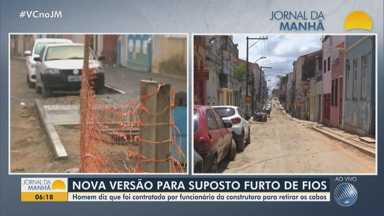 Homem diz que foi contratado para retirar fios de cobre no Santo Antônio Além do Carmo