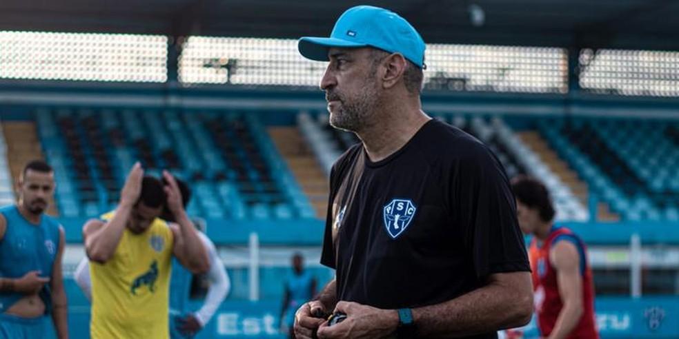 Vinícius Eutrópio, técnico do Paysandu — Foto: Ascom Paysandu