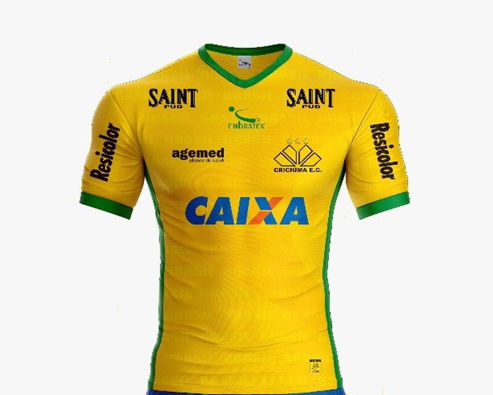 d6f1e263352eb ... Criciúma usará camisa em homenagem à seleção brasileira — Foto   Divulgação Criciúma