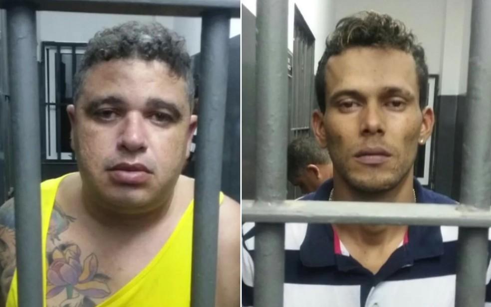 Antônio Lima Silva e Eloan Lopes Martins foram presos em Goiânia (Foto: TV Anhanguera/Reprodução)