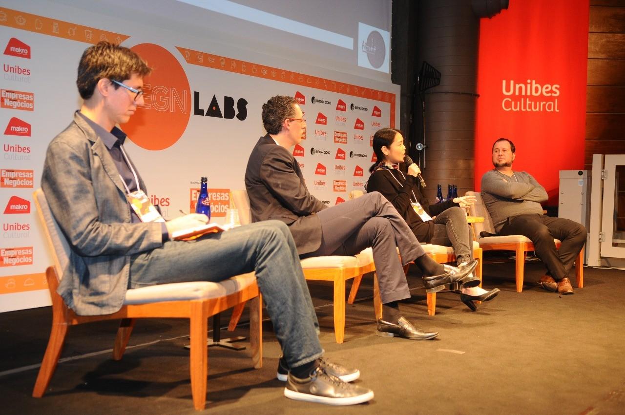 Marcelo Moura, Márcio Iavelberg, Telma Shiraishi, Thomas Radesca (Foto: Rafael Jota)