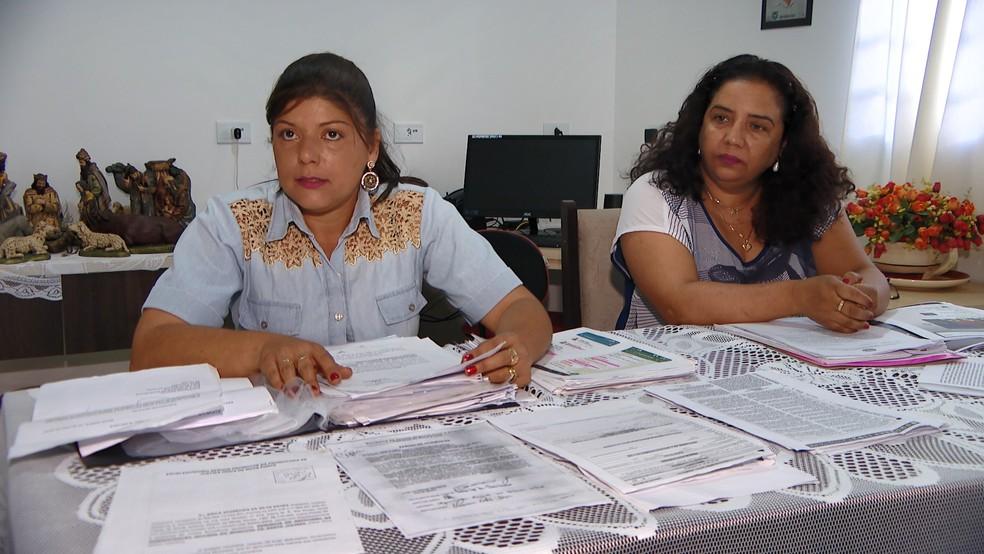 Vereadoras fizeram denúncias no Ministério Público contra o secretário municipal — Foto: Reprodução/TV Integração
