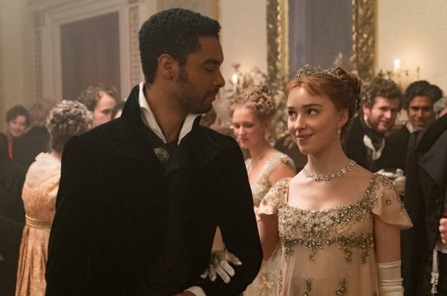 Simon Basset (Regé-Jean Page) e Daphne Bridgerton (Phoebe Dynevor) em 'Bridgerton' (Foto: Liam Daniel/Netflix)