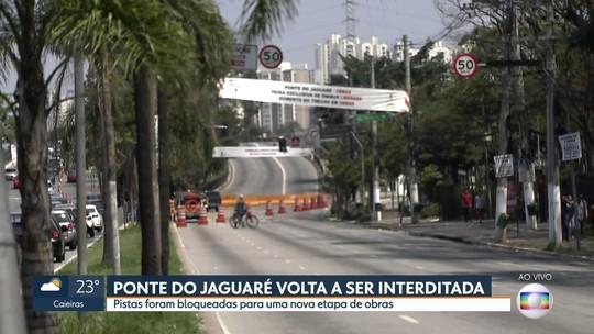 Felicidade passageira: ponte do Jaguaré volta a ser parcialmente interditada