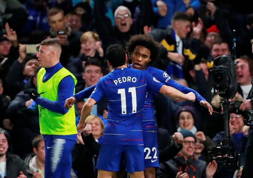 9fd289d3e045d ... Wilian garante estar focado no Chelsea — Foto  Reuters Andrew Couldridge