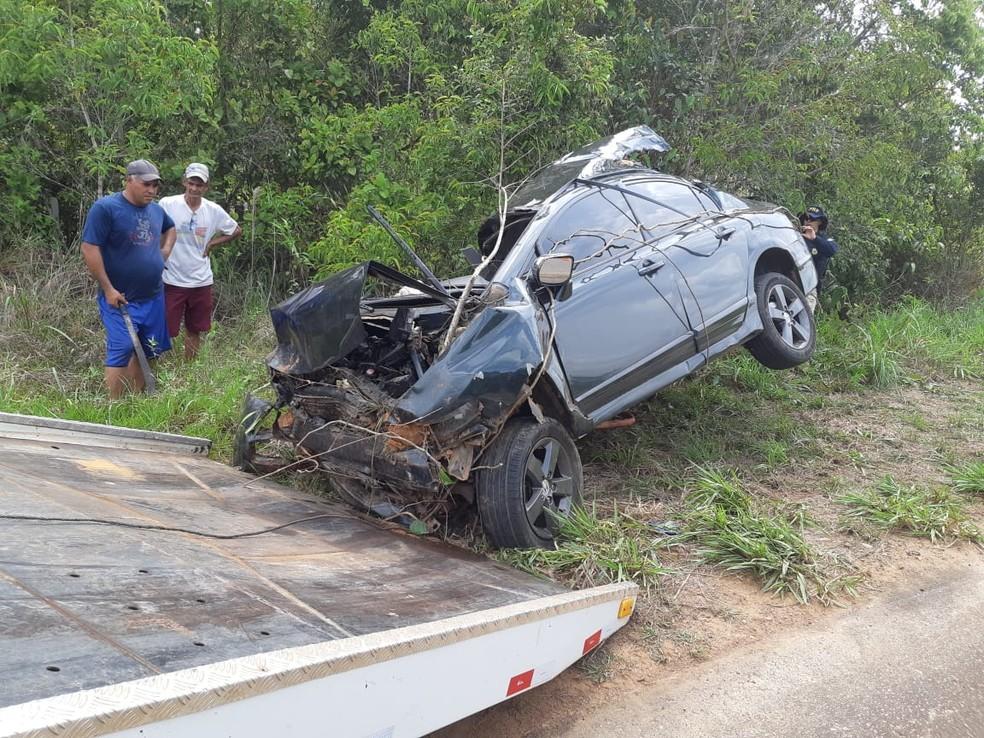 Colisão deixou motorista morto em Porto Velho — Foto: PRF/Divulgação