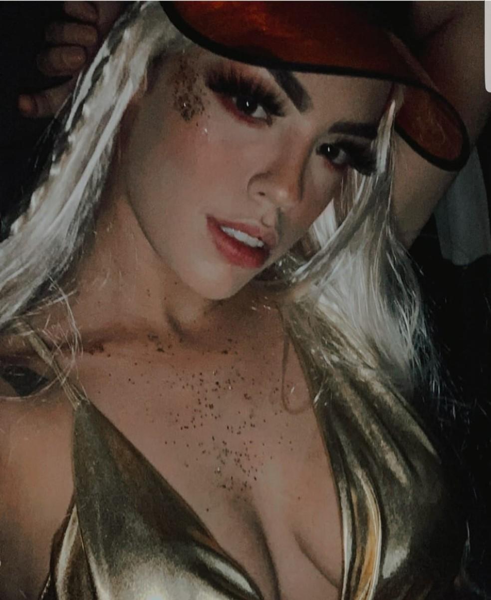 Marina era DJ e se apresentava com o nome de DJ Bibi Perigosa em festas em Mato Grosso — Foto: Arquivo Pessoal