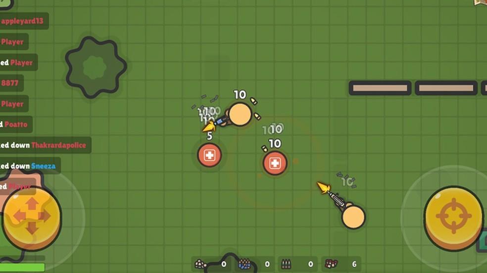 ZombsRoyale.io traz os Battles Royales com visualização 2D — Foto: Divulgação/Google Play